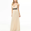 New Arrival Fashion Surplice Tulle Gown Black Stripe Women Lady Maxi Evening Dress Long