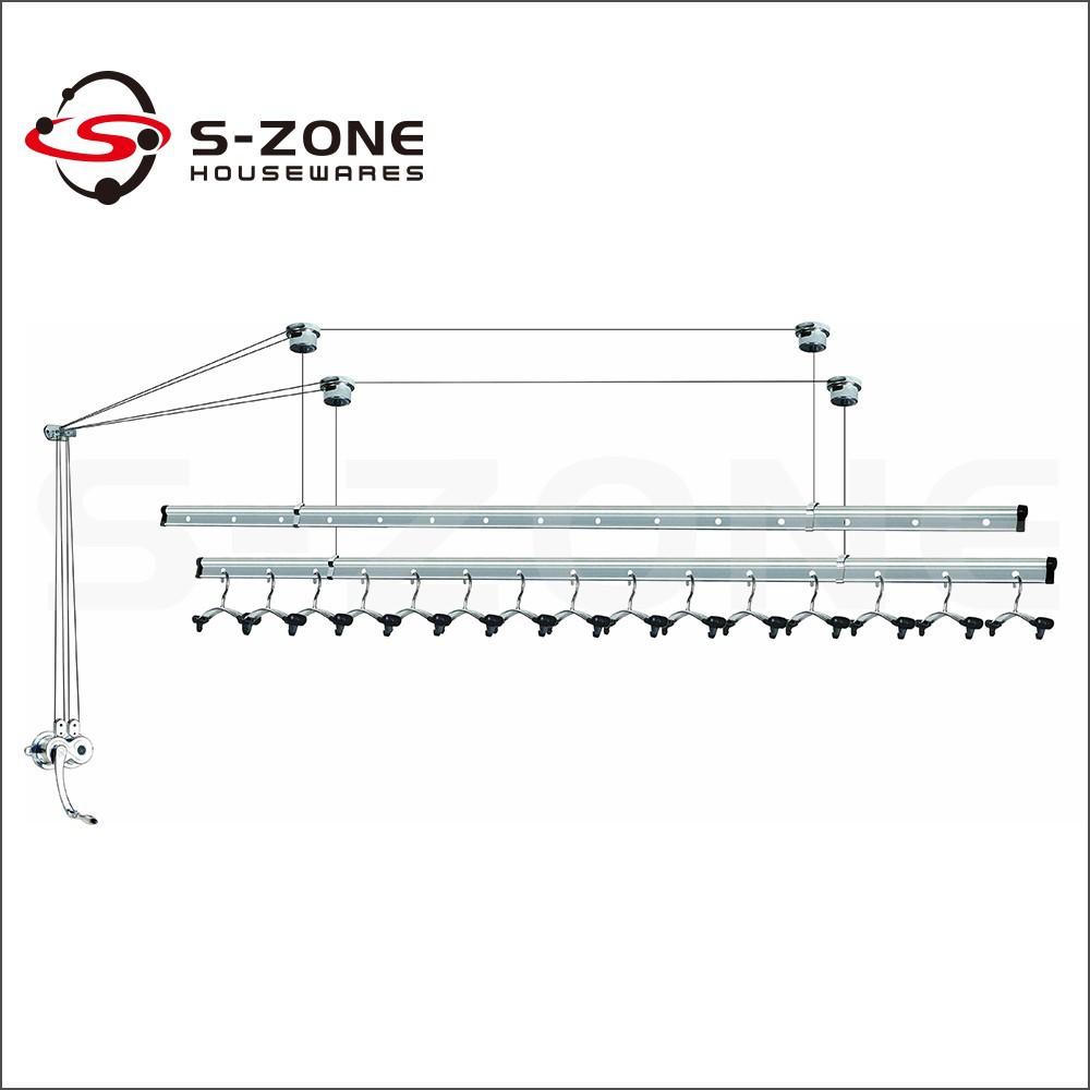 Goede Kwaliteit Balkon Plafond Gemonteerd Lifting Droogrek
