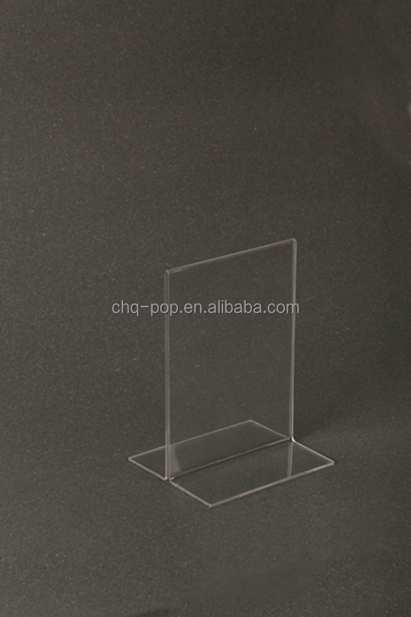 Acrylic display stand / photo frame / sign holder