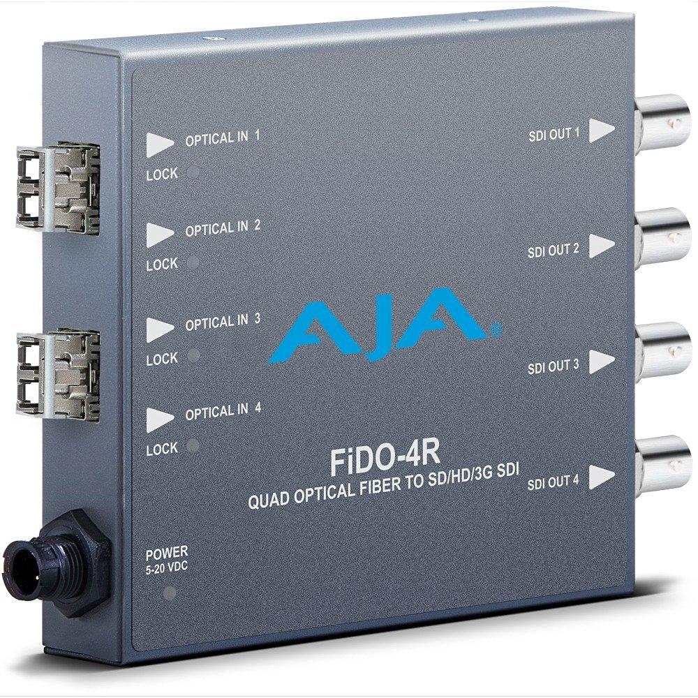 AJA FiDO-4R Optical Fiber to Quad SD/HD/3G SDI Mini Converter (FIDO-4R)