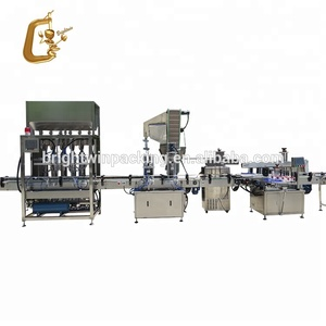 Manufacturer sale automatic liquid bottle filling capping labeling machine with VIDEO
