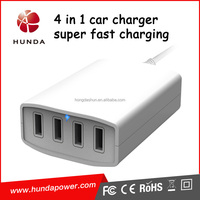 40w 4v 8a multi usb auto vehicle charger 4 way car cigarette lighter socket splitter for tablet smartphone