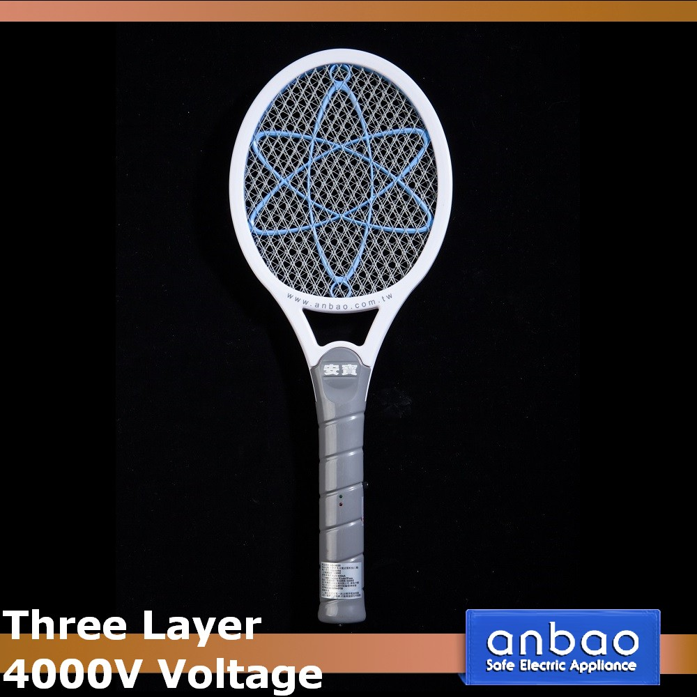 Three layer mosquito swatter not rechargeable bug zapper electronic insect racket battery operated electric fly killer bat