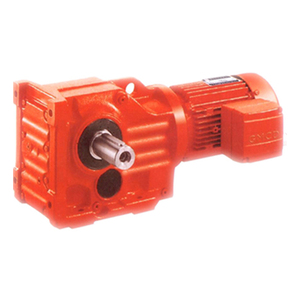 GK series gear reducer equivalent as K series helical bevel gear motor transmission speed reduction unit GK87
