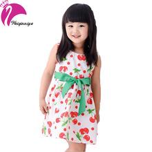 Girl Dress Summer 2016 Flower Girl Dresses Cotton Sleeveless Fashion Casual Princess Dress Vestido Infantil Kids