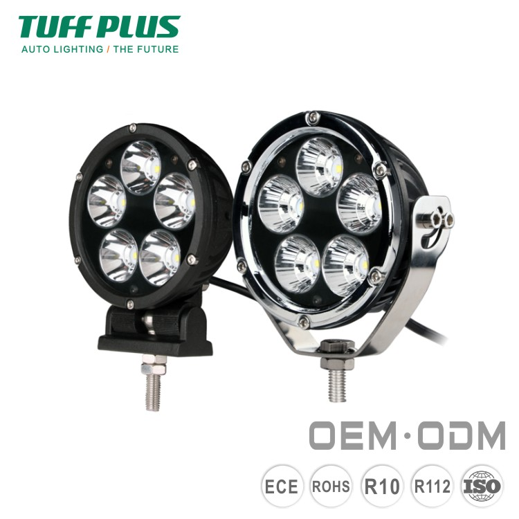 4 Round 50W Spot Flood light offroad jeep led driving light with E-mark