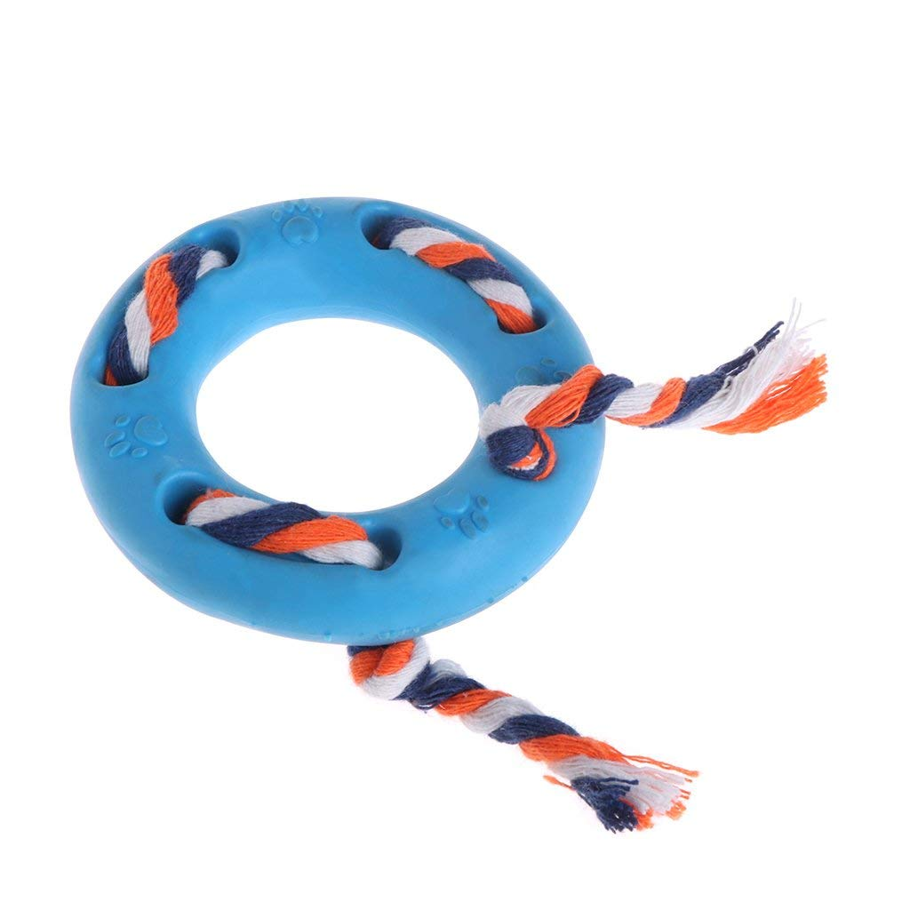 Upupo Dog Chew Toy, Chewing and Dental Pet Dog Toy, Pet Chew Toy for Aggressive Traning and Keep Fit Small rope circle TPR Bite Toys Color Random