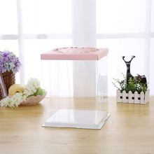 Square Birthday Cake Box Plastic Tall Cake Box For Wedding Cake