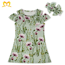 Fashion Kids Party One Piece Wear Girl Frock Simple Design Clothing Vintage Baby Dress Cutting.