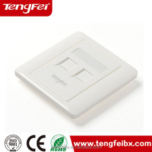 Hot selling rj45 cat5e utp one port cabinet face plate