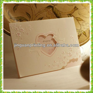 hight quality paper card printing / wedding invitation card designs /nobility paper card for wedding