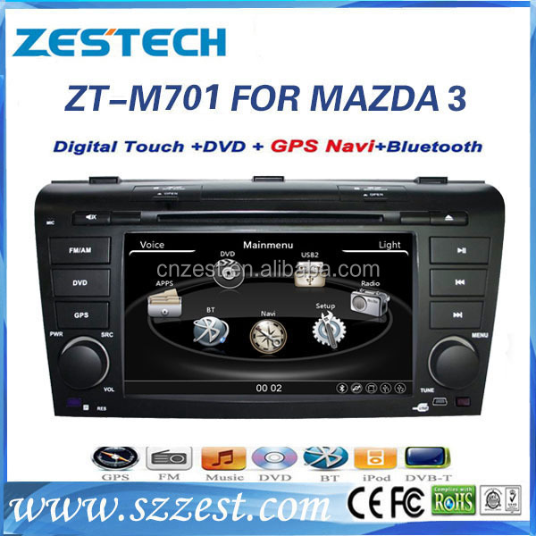 7 inch car dvd player car video interface for MAZDA 3 2004-2009 car dvd gps radio TV/BT/MP3/4 ZT-M701