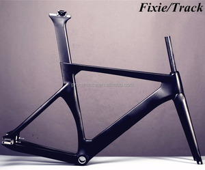 China Supplier Fixed Gear Bike Frame 700*25C Max Tire, Changeable Brake Type Carbon Fixie Frame