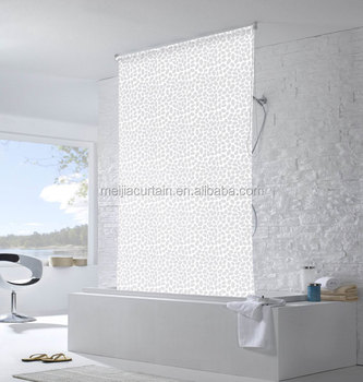 Fancy Roller Blind Shower Curtain For Kids Bathrooms