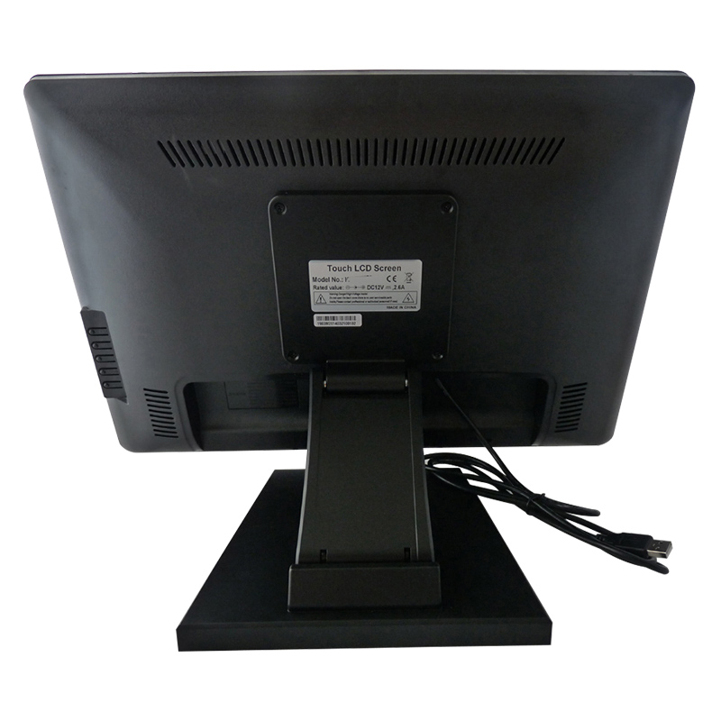 19 inch TFT LCD industrial grade USB resistive touch screen monitor