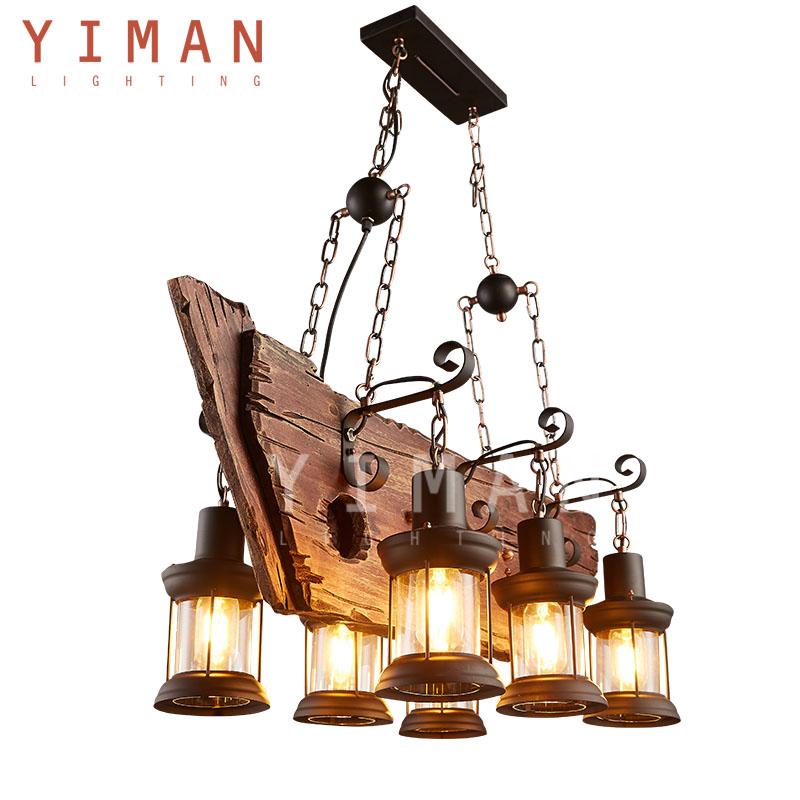 Simple creativo estilo r stico l mparas de ara a de hierro forjado l mparas y luces colgantes - Lamparas estilo rustico ...