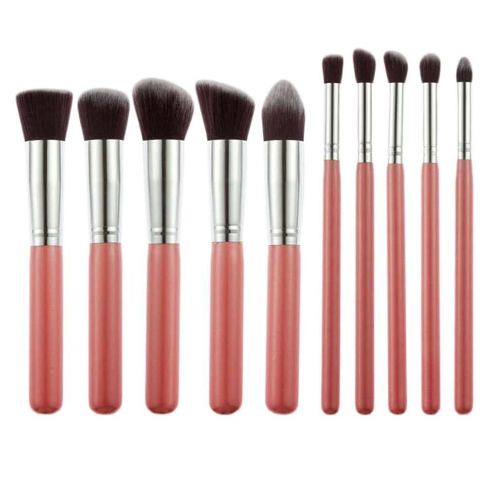 Redcolourful 10Pcs Practical Cosmetic Makeup Brushes Multifunctional Makeup Brushes Set Tools