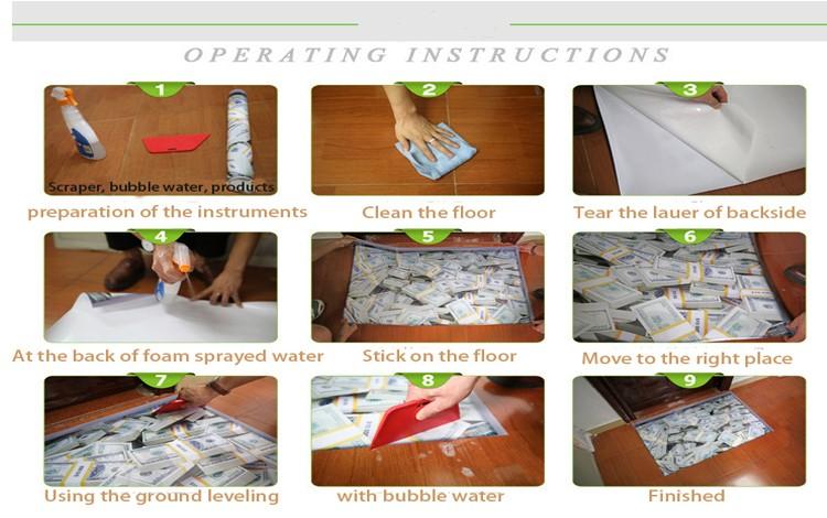Piastrelle bagno floor sticker con l immagine d pvc materiali