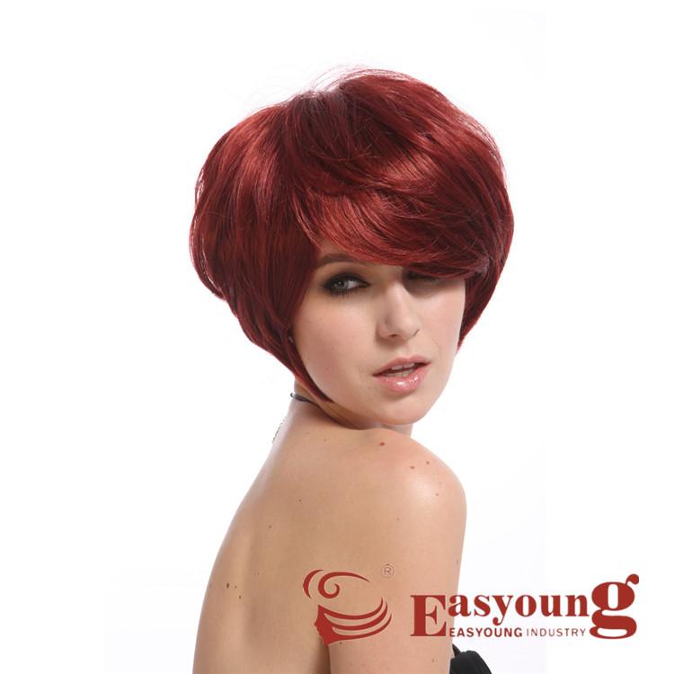 White Women Burgundy Red Short Hair Synthetic Wig Buy Burgundy Wig