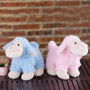 OEM manufacturer custom pink and blue stuffed animal plush alpaca toy