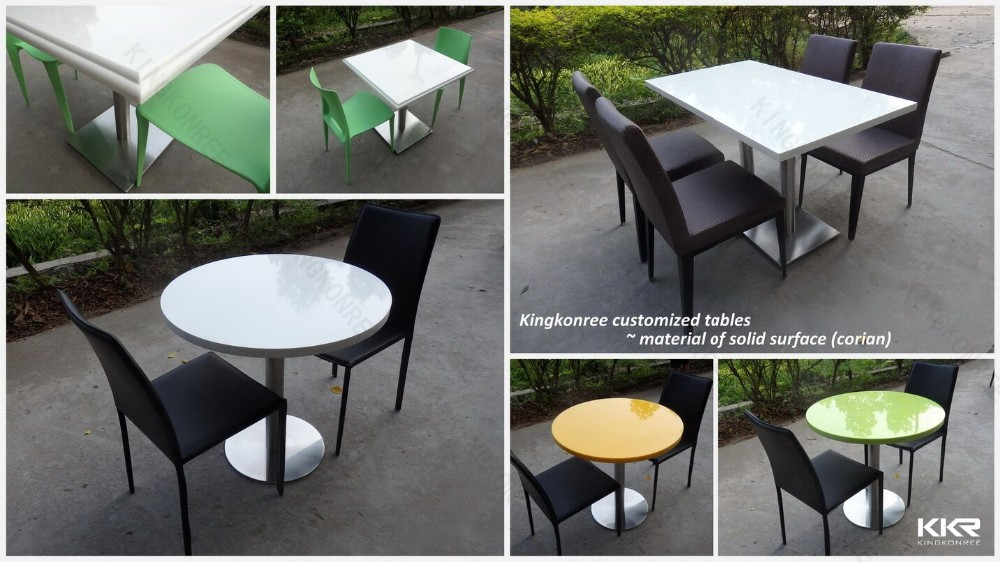 Cafe Style Oval Marble Stone Top Dining Table With Chairs From