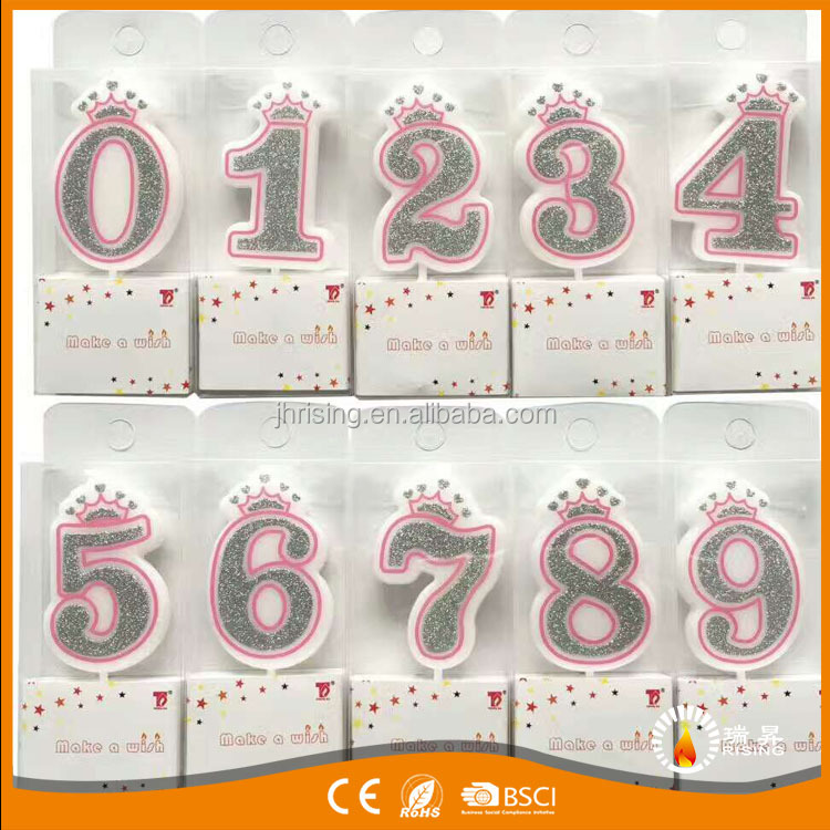 Fancy Birthday Party Birthday Cake Decorative Real Wax Number Birthday Candles