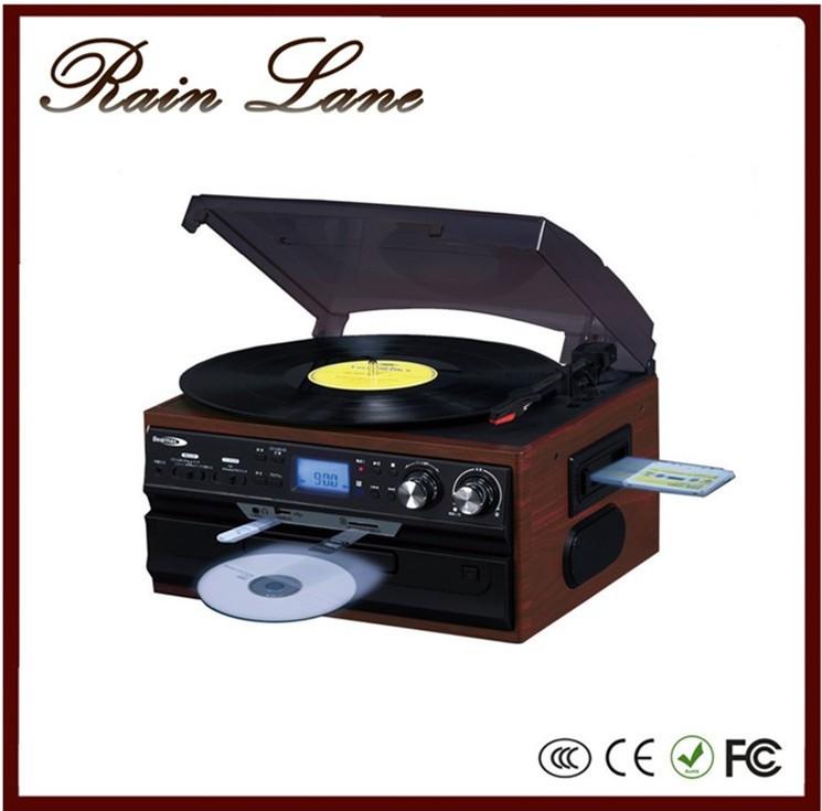 Rain Lane Retro Turntables SD/ USB Recorder Bluetooth Wireless Vinyl Player  Music Center
