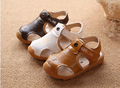 2015 Summer Style 3 Colors Soft Leather Children Beach Sandals Fashion Style Boys Shoes Durable Cow