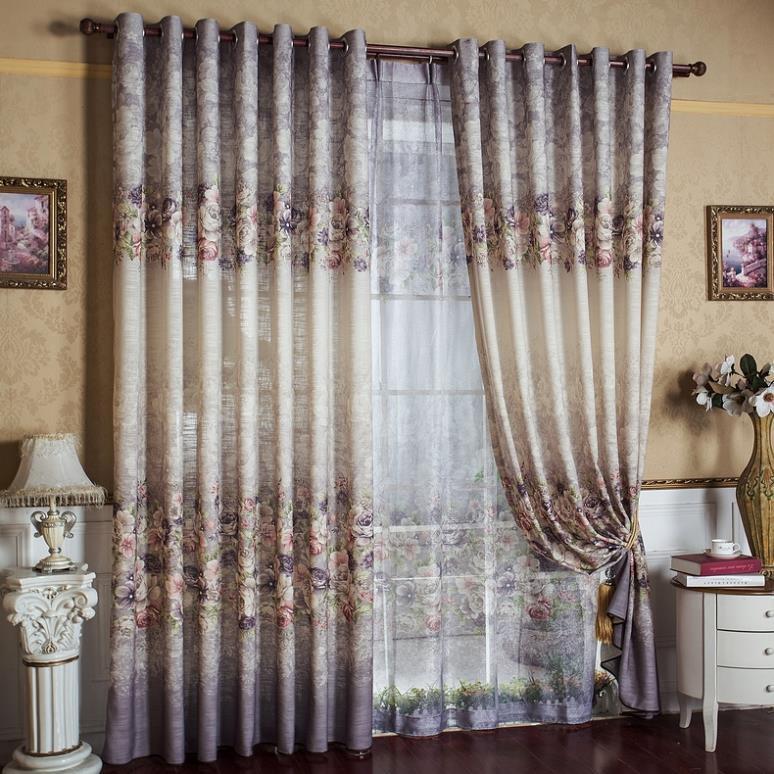 Tende decorazioni per finestre lenzuola di cotone stampato for Decorazioni tende