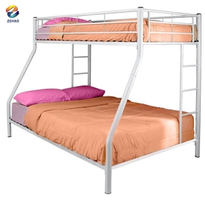 Hot Quality Customized Antique Metal Folding Children Bunk Bed With Mesh Base
