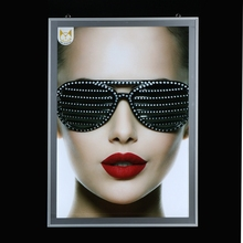 Open Installation High Quality Fashion Led Slim Aluminum Frame Box Menu Signboard