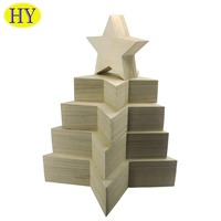 china supplier wholesale five-pointed star shaped wooden box
