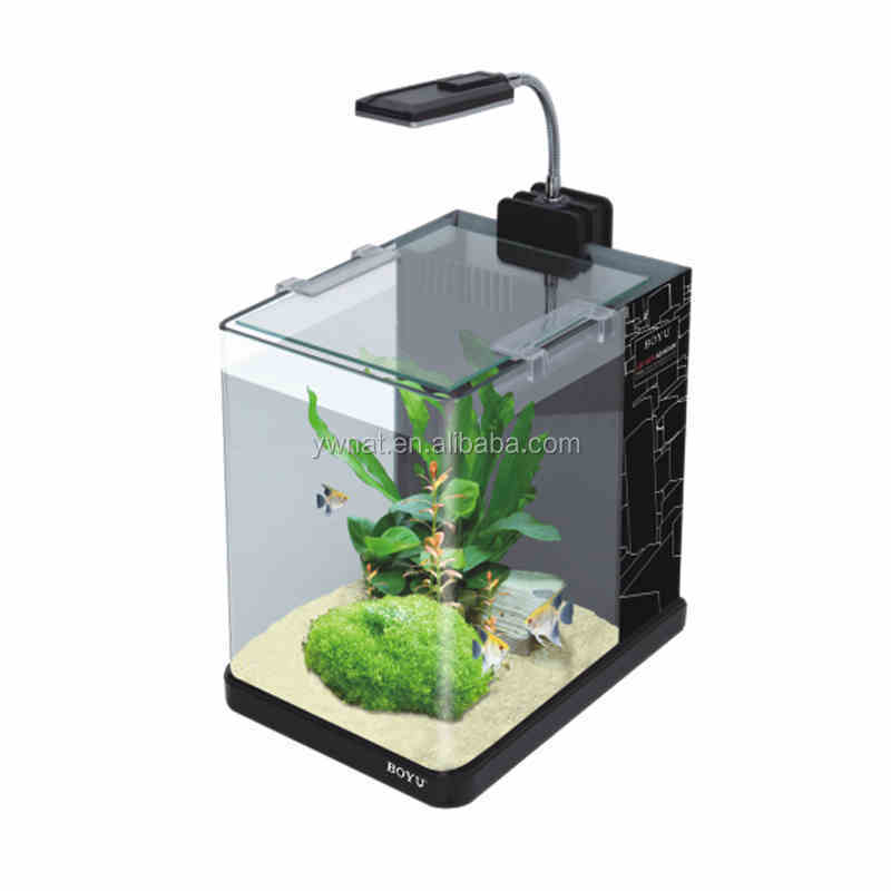 2015 Factional ontwerp joyful home LED desktop Aquarium Kantoor Tafel Mini Aquarium