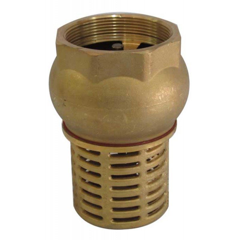 "1 1/2"" BSP FEMALE CHECK FOOT VALVE SUCTION BRASS NON RETURN VALVE FOR PUMP"
