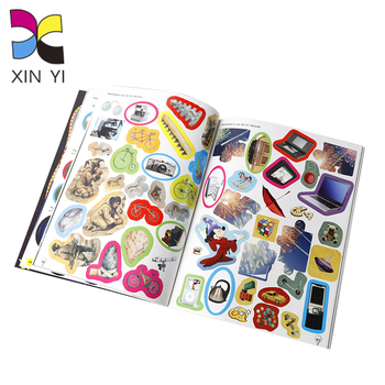 OEM free sample printed custom foil children animals stickers book for kids