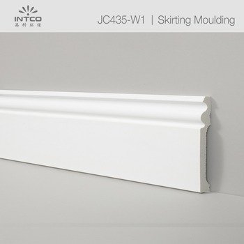 150mm White floor board foam board plastic baseboard