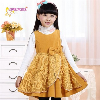 ecb16641c57b4 wholesale long sleeve wool baby girl winter dress wool winter party dress  for girls