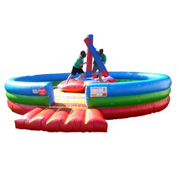 Gladiators style pedestal inflatable joust ,rock and roll China factory