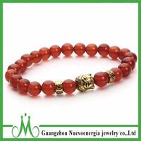 Charm Carnelian Red Agate Gemstone Round Bead Bracelet 8mm Healing Crystal Energy Stone Jewelry