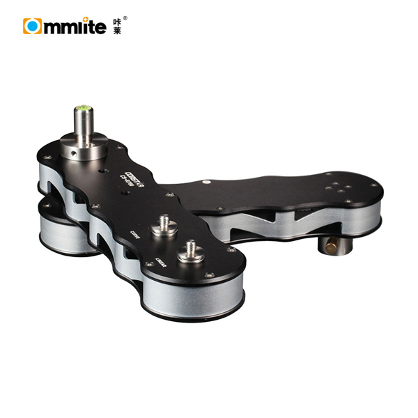 Commlite NEW 4-times Distance Retractable MINI Aluminum Alloy Video Slider for DSLR Camera,Micro Camera, Smartphone