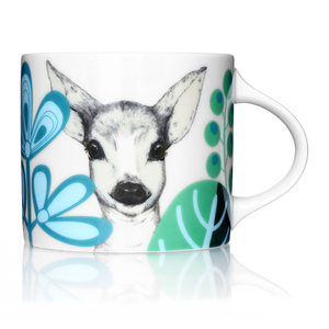 customized ceramic Animal deer mug milk cup for breakfast