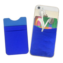 MSDS portable silicone rubber credit card holder plush phone pouch