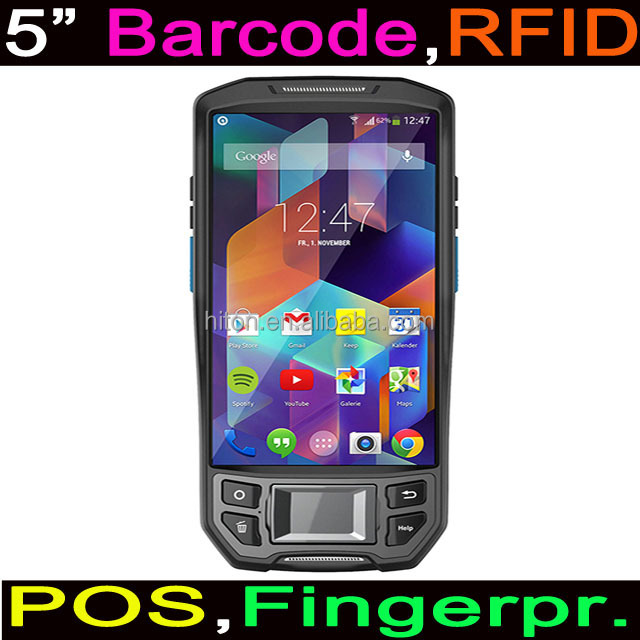 Cheapest Factory 5 inch Touch Rugged Handheld Mobile Computer with Barcode Reader And RFID Reader