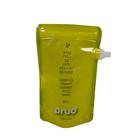 Transparent spout liquid stand up pouch with spout plastic packaging