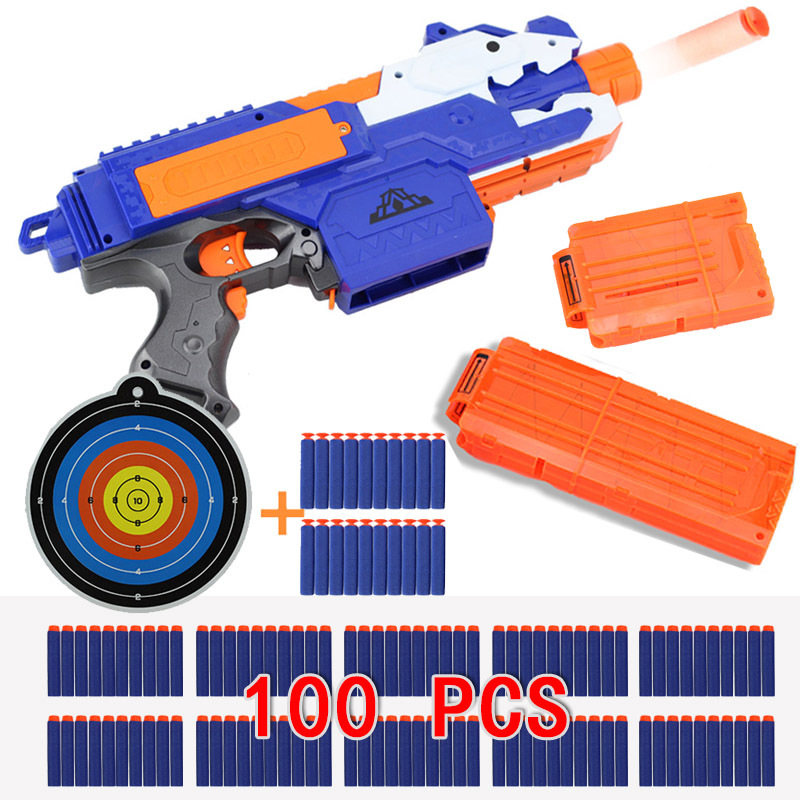 Nerf Nerf Blaster Air Gun Can Launch of Electric Play The Toy Soft Bullets strike Kids Rifle Toys electric soft bullet toy