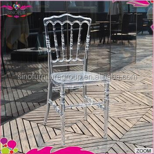 purchasing discount Sinofur wholesale hotel used resin clear napoleon chair
