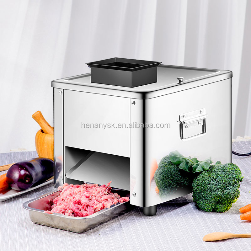Fully Automatic Electric Commercial Stainless Steel Shred Section Dice Meat Cutter Machine For Sale