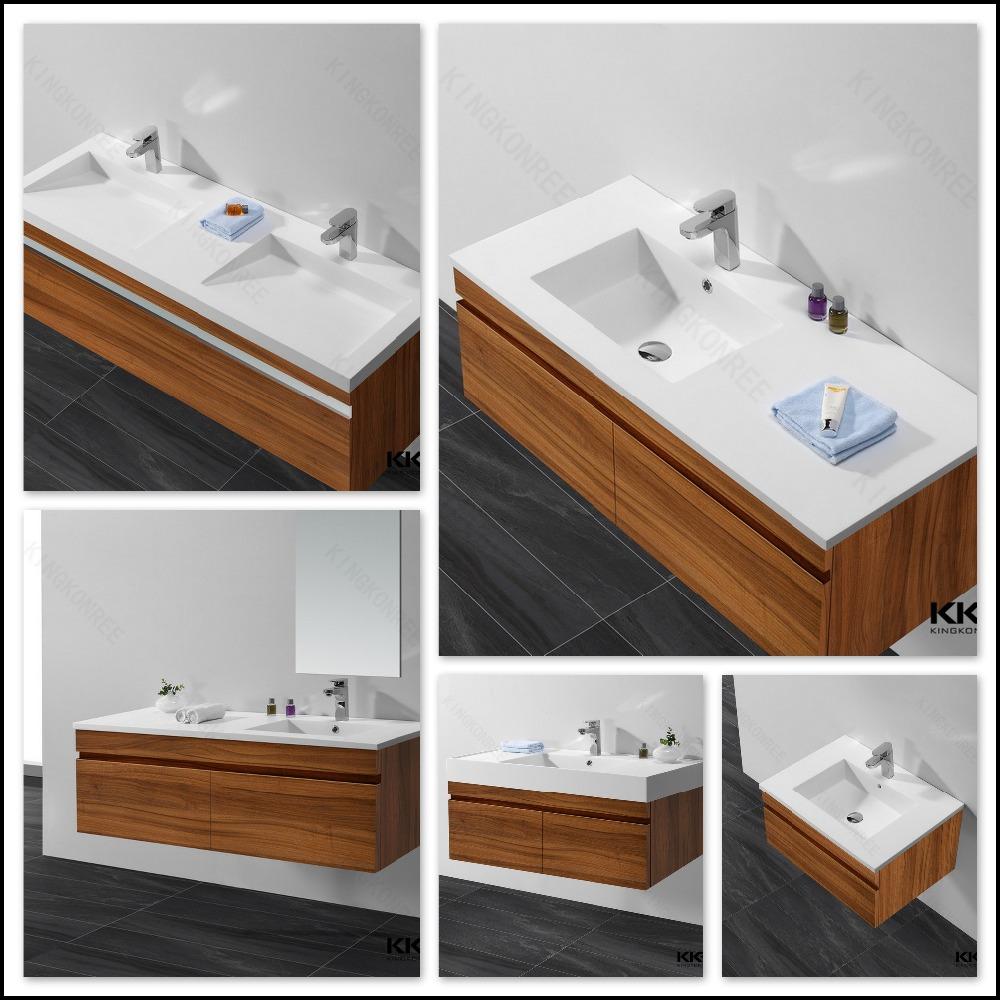 2016 design bathroom vanity plywood wall hung washbasin cabinet - Plywood Bathroom 2016