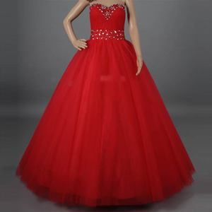 Real Model Simple Beaded Ball Gown HMY-142 Sweetheart Floor Length Prom Dress Hot Sell