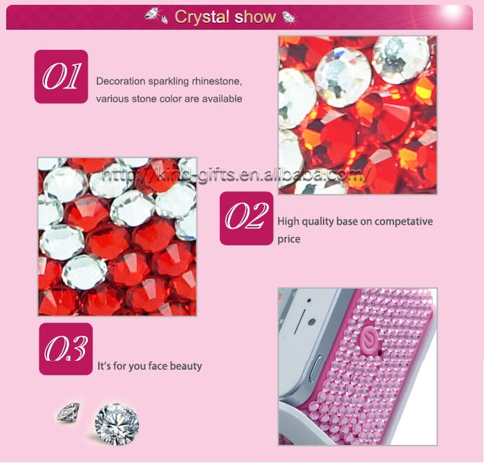 Hot Sell Bling Crystal Beauty Gril Gift Company Promotion Gift LED bluetooth speaker
